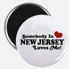 Somebody in New Jersey Loves Me Magnet