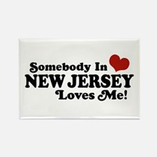 Somebody in New Jersey Loves Me Rectangle Magnet
