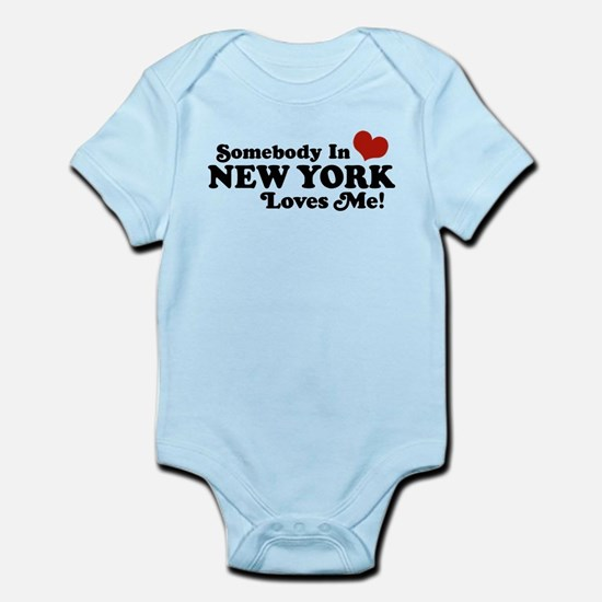 New york baby clothes cafepress somebody in new york loves me infant bodysuit negle Images