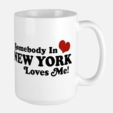 Somebody in New York Loves Me Large Mug