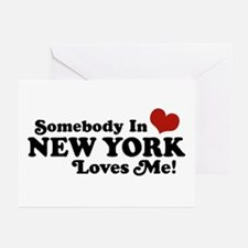 Somebody in New York Loves Me Greeting Cards (Pk o