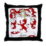 Leon Family Crest Throw Pillow