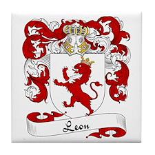 Leon Family Crest Tile Coaster