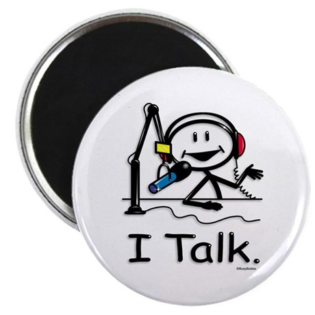 """BusyBodies Radio Talk Show Host 2.25"""" Magnet (100"""