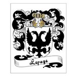 Lepage Family Crest Small Poster