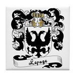 Lepage Family Crest Tile Coaster