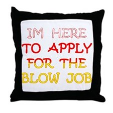 APPLY 4 BLOWJOB/reds-yellow Throw Pillow