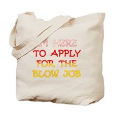 APPLY 4 BLOWJOB/reds-yellow Tote Bag