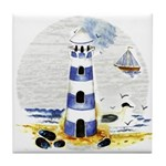 Mystic Lighthouse Tile Coaster