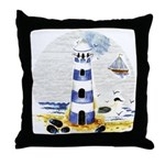 Mystic Lighthouse Throw Pillow