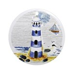 Mystic Lighthouse Ornament (Round)