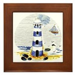 Mystic Lighthouse Framed Tile