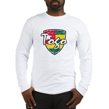 Togolese distressed flag Long Sleeve T-Shirt