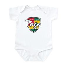 Togolese distressed flag Infant Bodysuit