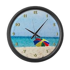 The Beach... Large Wall Clock