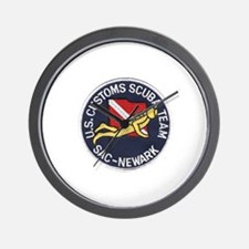 Customs Dive Team Wall Clock