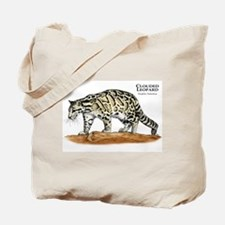 Clouded Leopard Tote Bag