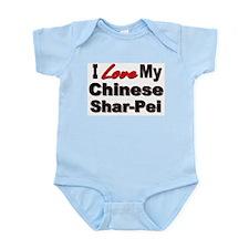 I Love My Chinese Shar-Pei Infant Bodysuit
