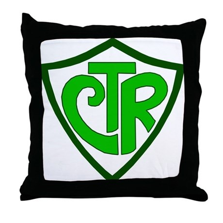 """CTR """"Choose the Right"""" Throw Pillow"""