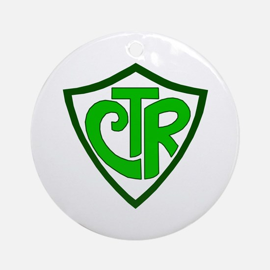 "CTR ""Choose the Right"" Ornament (Round)"