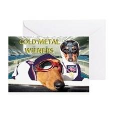 Gold Metal Wieners Greeting Card
