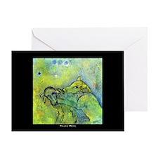 Yellow Moon Greeting Card