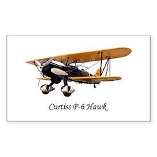 Curtiss P-6 Hawk Rectangle Decal
