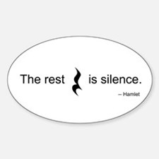 The Rest is Silence Oval Decal