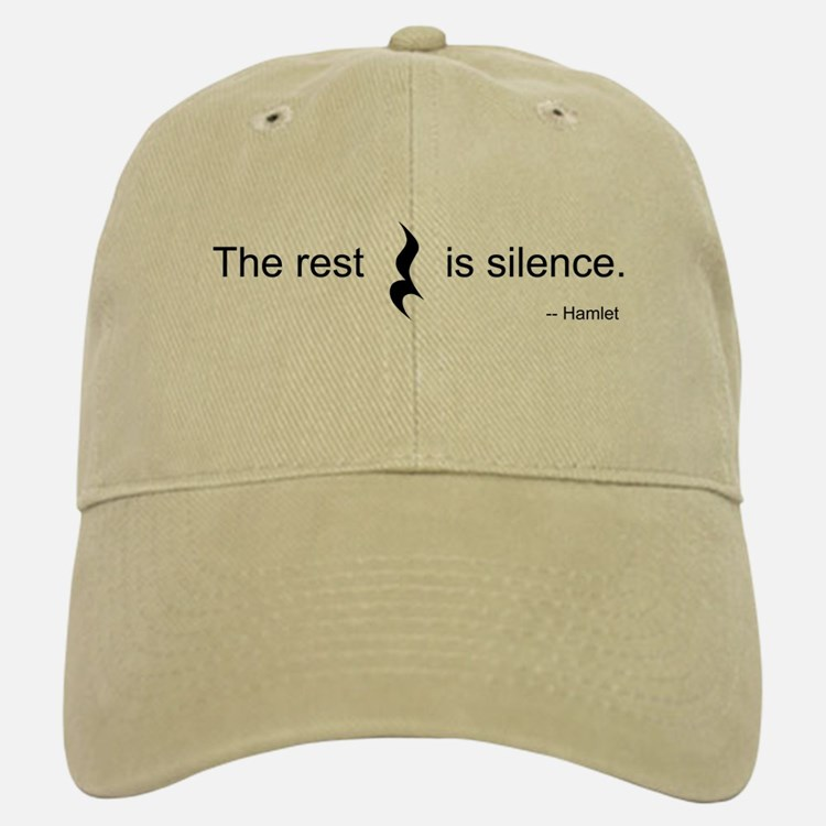 The Rest is Silence Baseball Baseball Cap