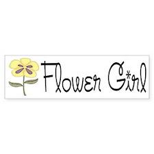 Flower Girl Bumper Bumper Sticker