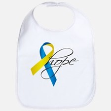 Down Syndrome Ribbon Hope Bib