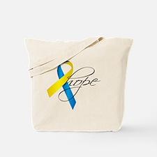Down Syndrome Ribbon Hope Tote Bag