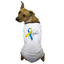 Down Syndrome Ribbon Hope Dog T-Shirt