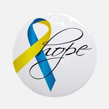 Down Syndrome Ribbon Hope Ornament (Round)