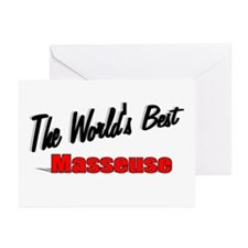 """""""The World's Best Masseuse"""" Greeting Cards (Pk of"""