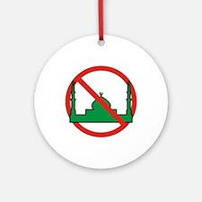 No Mosque Ornament (Round)