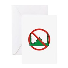 No Mosque Greeting Card