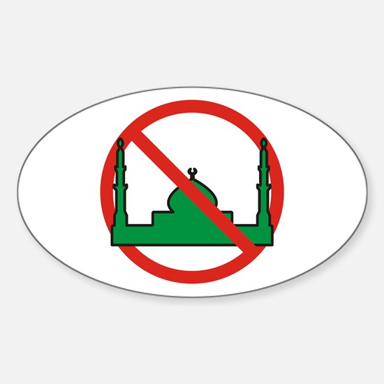 No Mosque Oval Decal