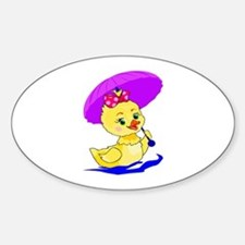 Baby Duck Sticker (Oval)