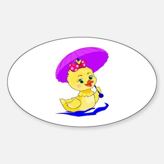 Baby Duck Sticker (Oval)