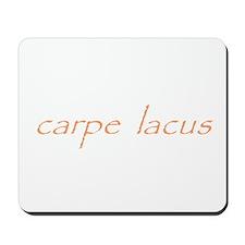 carpe lacus - ORANGE Mousepad