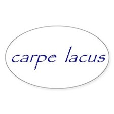 carpe lacus - NAVY Oval Decal