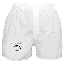 I'd Rather Be A Cetacean Boxer Shorts