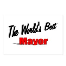 """""""The World's Best Mayor"""" Postcards (Package of 8)"""