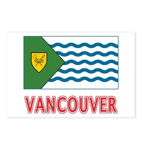 Vancouver Flag Postcards (Package of 8)