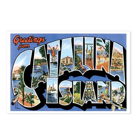 Catalina Island CA Postcards (Package of 8)