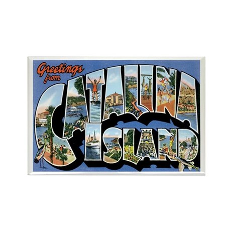 Catalina Island CA Rectangle Magnet (100 pack)
