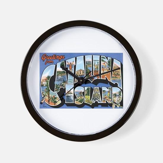 Catalina Island CA Wall Clock