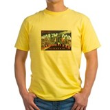 Hollywood Mens Classic Yellow T-Shirts