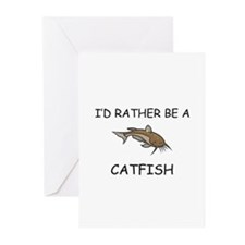 I'd Rather Be A Catfish Greeting Cards (Pk of 10)